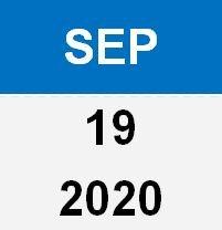 19 Sep 20