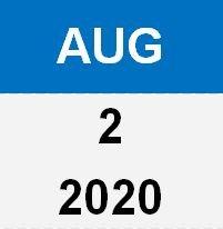2 Aug 20